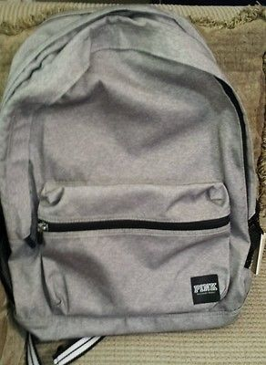 Victorias Secret PINK Backpack Campus Bookbag Travel Gray Victoria's DEFECT