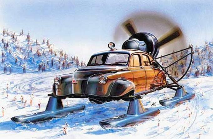Экзотические автомобили Победа. Аэросани Север-2