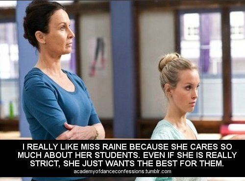 Dance Academy confessions It's definitely now that she hated them. She cared soooo much and if I remember right she even cried a little when sammy died