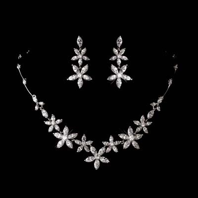 Exquisite Flowers Jewelry Set: Ideas, Flower Jewelry, Fashion Wedding, Exquisite Flower, Necklaces, Accessories, Floral Cubical, Bridal Jewelry Sets, Wedding Jewelry Sets