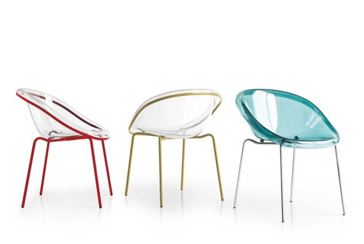 Calligaris Bloom dining chairs with metal base