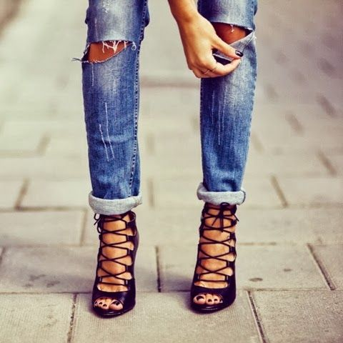Just bought these babies! Zara Lace-Up Leather Ankle Booties