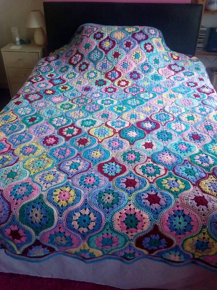 Crochet Blanket Lantern-Pattern Free
