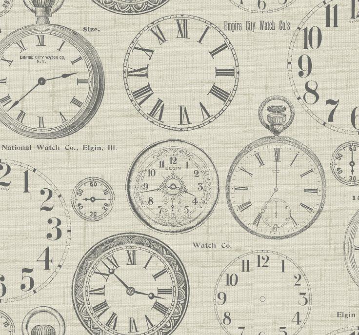 'Vintage Clocks', Fryett's Fabrics