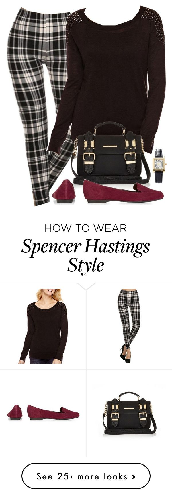 """""""Spencer Hastings (edgy version) inspired outfit"""" by liarsstyle on Polyvore featuring A.N.A, River Island and Forever 21"""