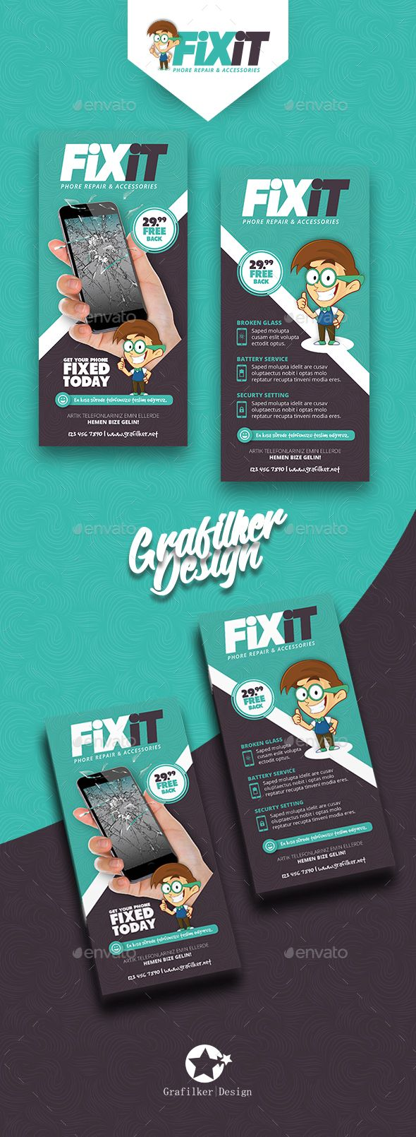 Phone Repair Flyer Templates Phone Repair Flyer Templates Fully layeredINDDFully layeredPSD300 Dpi, CMYKIDML format openIndesign CS4 or laterCompletely editable, print ready Text/Font or Color can be altered as needed All Image are in vector format, so can customise easily Photos are not included in the file Photo links in Help.txt file http://www.dafont.com/tondu.font http://