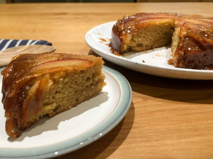 A delicious autumnal Apple Caramel Cake, a perfect use for all the apples around at the moment.