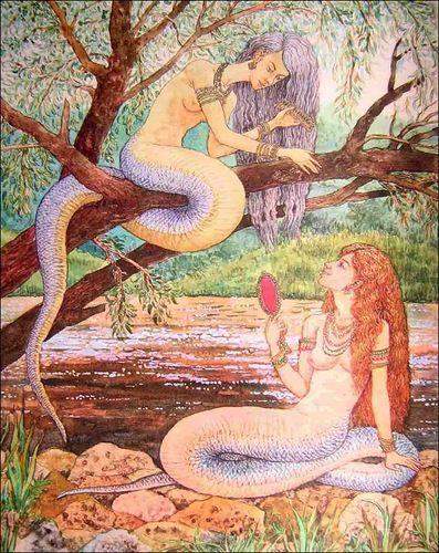 ВУЖАЛКІ. Вужалки - дочери змеиного царя.  Vuzhalka - Dauther of Serpent king. Валерий Славук.