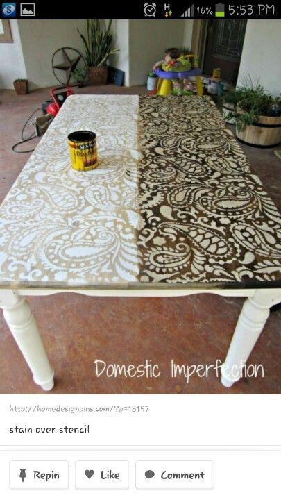 Diy stencil table