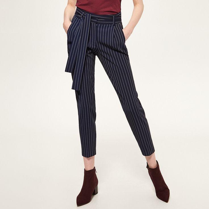 Promoții de la -70% Pantaloni în dungi, RESERVED, SD520-59X