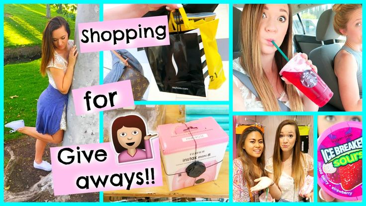 SHOPPING FOR GIVEAWAY PRIZES + FILMING!!!