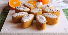 Tortine pan d'arancio all'acqua con farina integrale (light)
