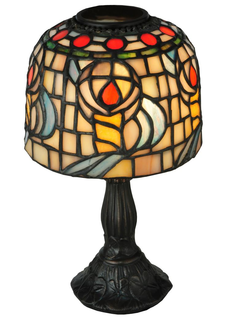 9.25 Inch H Tiffany Rosebud Candle Lamp - 9.25 Inch H Tiffany Rosebud Candle Lamp Theme: VICTORIAN FLORAL Product Family: Tiffany Rosebud Product Type: NOVELTY LAMPS AND ACCESSORIES Product Application: CANDLE HOLDERS Color: Bulb Type: TEA LIGHT Bulb Quantity: 1 Bulb Wattage: CANDLE Product Dimensions: 9.25H x 5.5WPackage Dimensions: NABoxed Weight: 1.5 lbsDim Weight: 12 lbsOversized Shipping Reference: NAIMPORTANT NOTE: Every Meyda Tiffany item is a unique handcrafted work of art. Natural…
