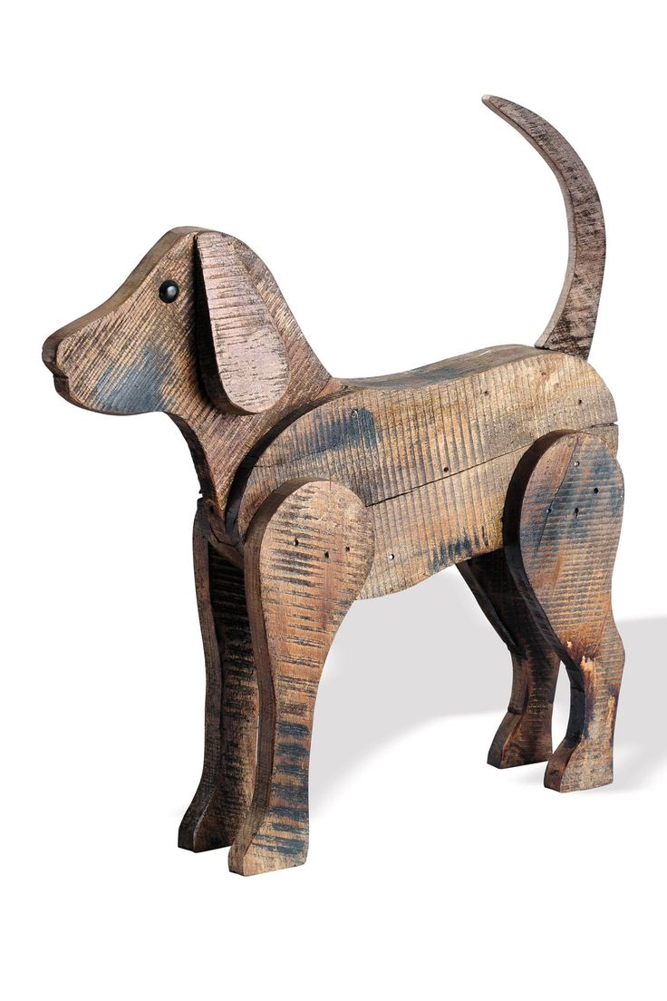 Decor Barnwood Dog - Large