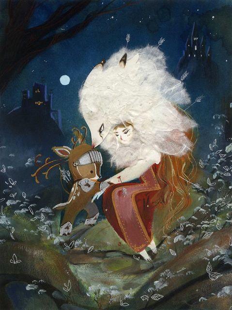 Dame Louve-Blanche et son Chevalier Cerf by Camille André