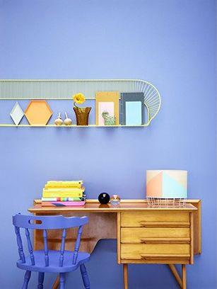 #Bureau #caméléon, de la #couleur pour #moderniser un bureau classique en #bois...