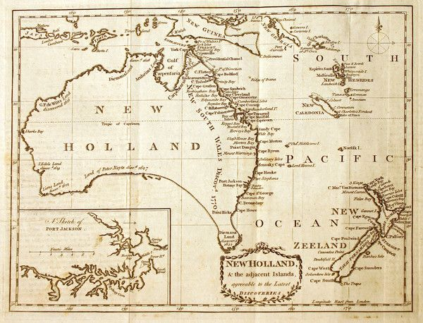Antique Map of Australia by Kincaid, 1790