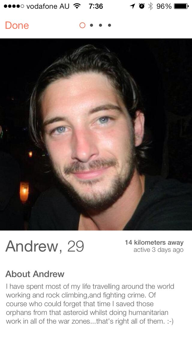 hilarious dating profile bio