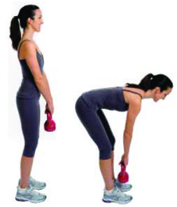 3 Kettlebell Workouts For Women | GirlsGoneSporty (Although they demo with a pretty small kettlebell - particularly for the dead lift.)