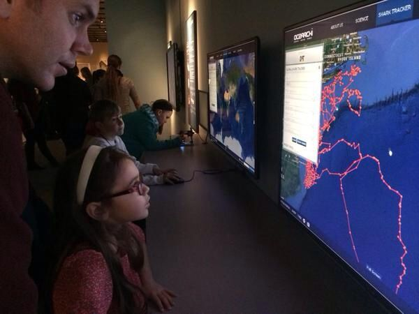 Learning how to track Great White Sharks on the OCEARCH GLOBAL SHARK TRACKER POWERED BY CATERPILLAR