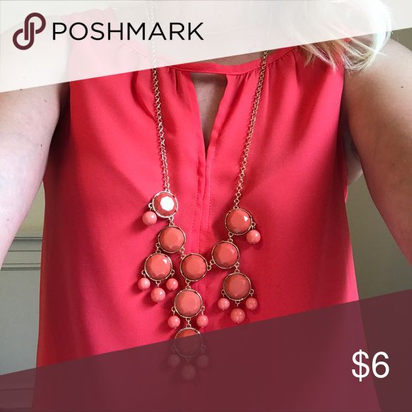 Nordstrom Coral Bauble Necklace Nordstrom Coral Bauble Necklace similar to the J Crew Bubble necklace. Jewelry Necklaces