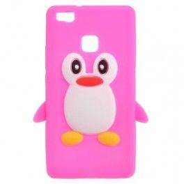 Huawei P9 Lite pinkki pingviini silikonikuori.