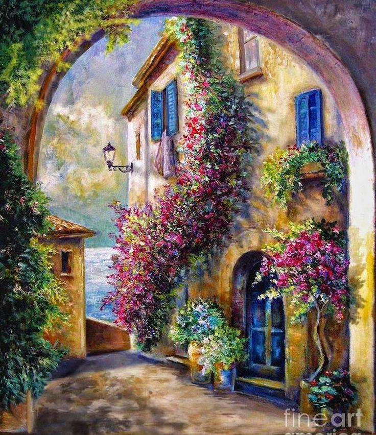 fachadas-de-puertas-con-casas-y-flores