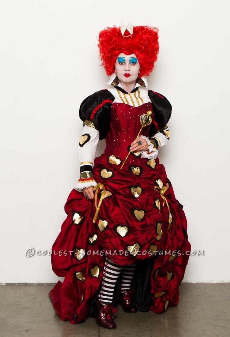 131 best alice in wonderland costume ideas images on pinterest amazing handmade red queen costume solutioingenieria Gallery