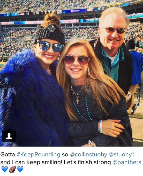 Michael Oher's family cheering on the Panthers!!!