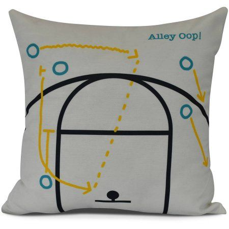 Alley Oop! Geometric Print Pillow, White