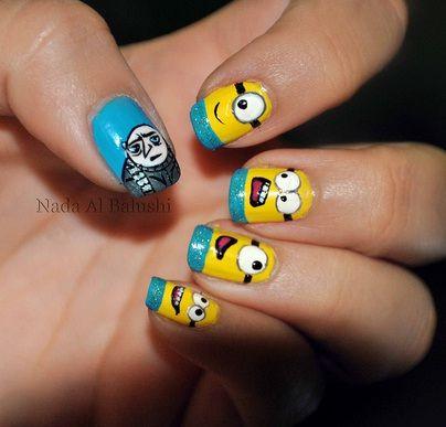 despicable me characters   Despicable Me Character Nails   The Nail Design Blog