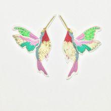 Fflacell 1 paire 3d paillette sequin broderie oiseaux patch applique coudre sur vêtements chemise docarate accessoire patchwork diy(China (Mainland))