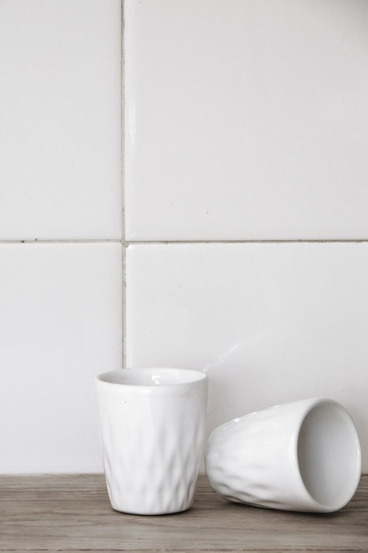 Although these petite ceramic cups are ideal for serving liqueur or a single shot of espresso, they were meant to be versatile, so do go ahead and use them for other purposes. Their unique geometri…