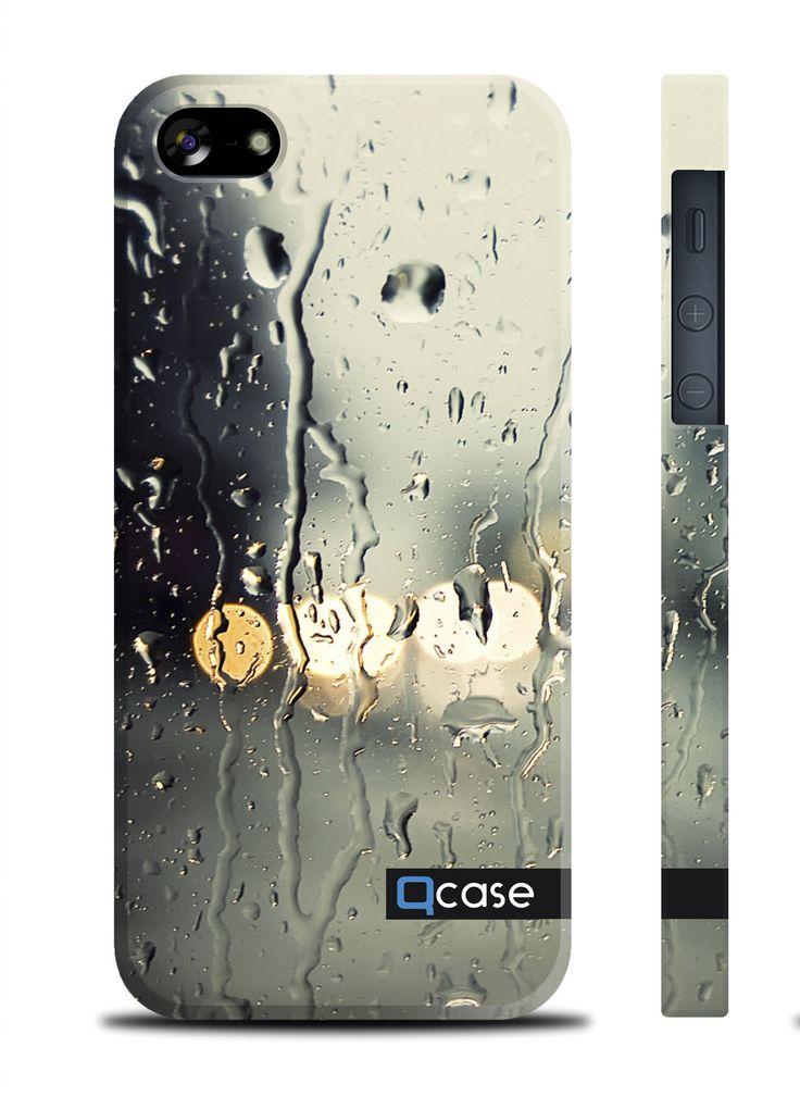 Чехол QCase для iPhone 5 | 5S Rain / Дождь (пластиковый чехол, защитная пленка, заставка) купить в интернет-магазине BeautyApple.ru.