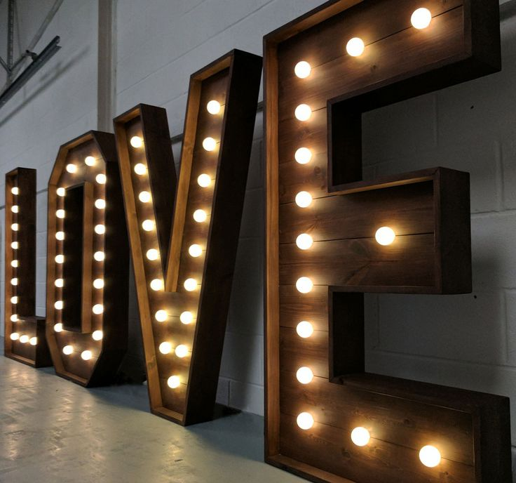lighting letters. our giant light up love marquee letters are made from solid wood and warm led bulbs the biggest of their kind in south wales lighting h