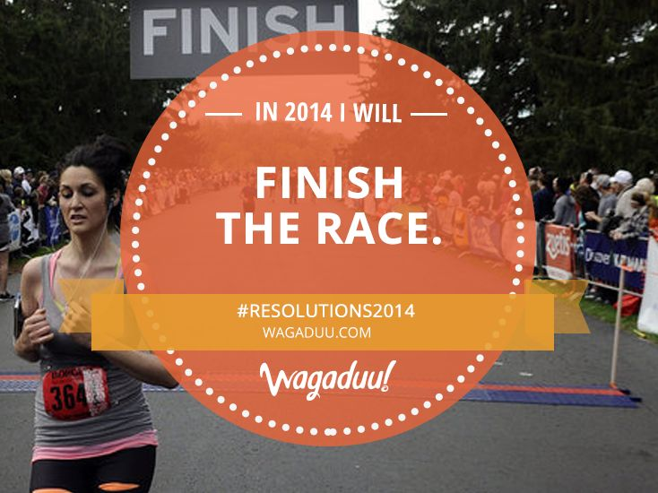 In 2014 I will go to all the races I register for and I will finish them! #Resolutions2014 #marathon #running