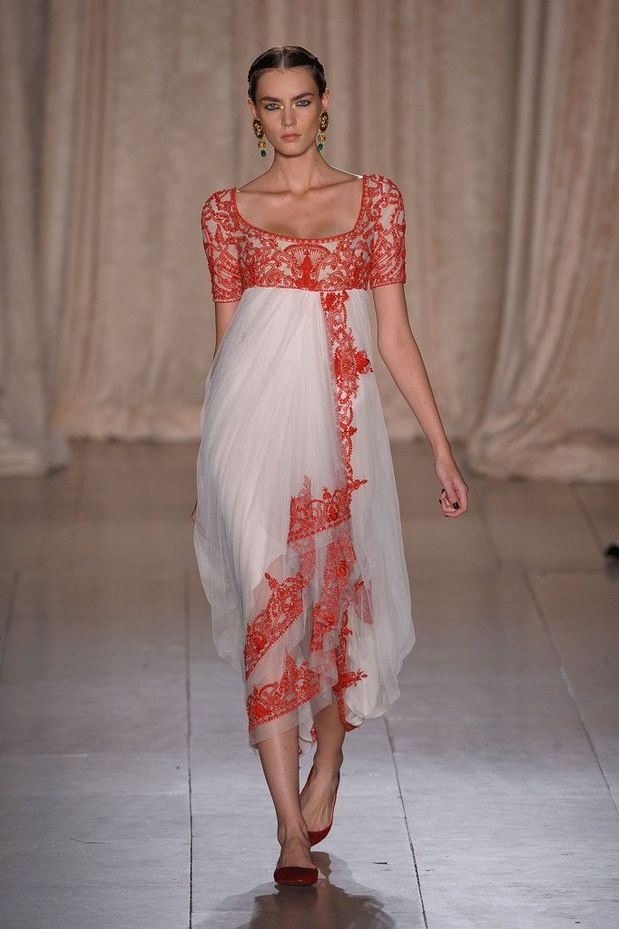Wow! Really ups the empire waist concept to red-carpet worthy. Marchesa Spring 2013