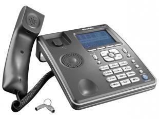 Este é o telefone com fio e identificador de chamadas da Ibratele. Com visor, agenda telefônica, viva-voz, 16 tipos de campainhas, música de espera, busca automática e muito mais. Possui ainda tecla flash, rediscar e pausa. Além, de relógio, timer, alarme, calculadora, chave bloqueadora e cronometro para tempo de ligação. O telefone ideal no seu dia a dia!