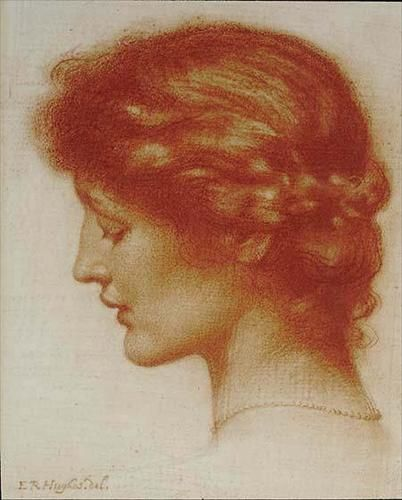 Edward Robert Hughes - Portrait of Rosalind