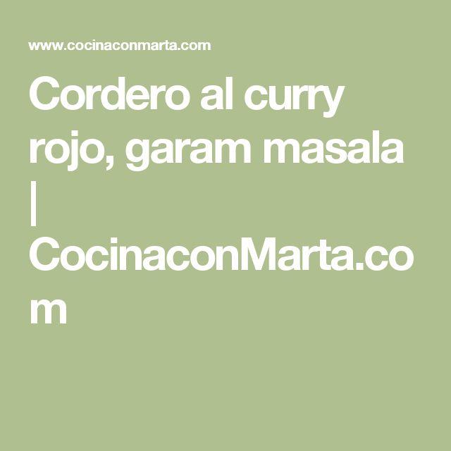Cordero al curry rojo, garam masala         | CocinaconMarta.com