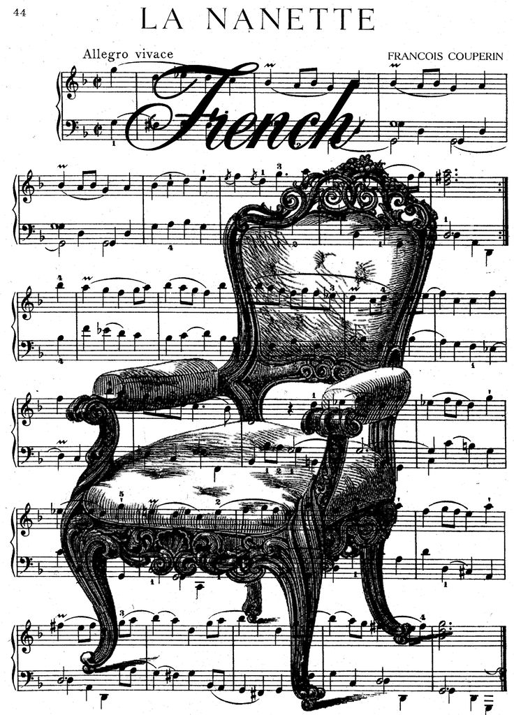 **FREE ViNTaGE DiGiTaL STaMPS**: French Chair Sheet Music Collage