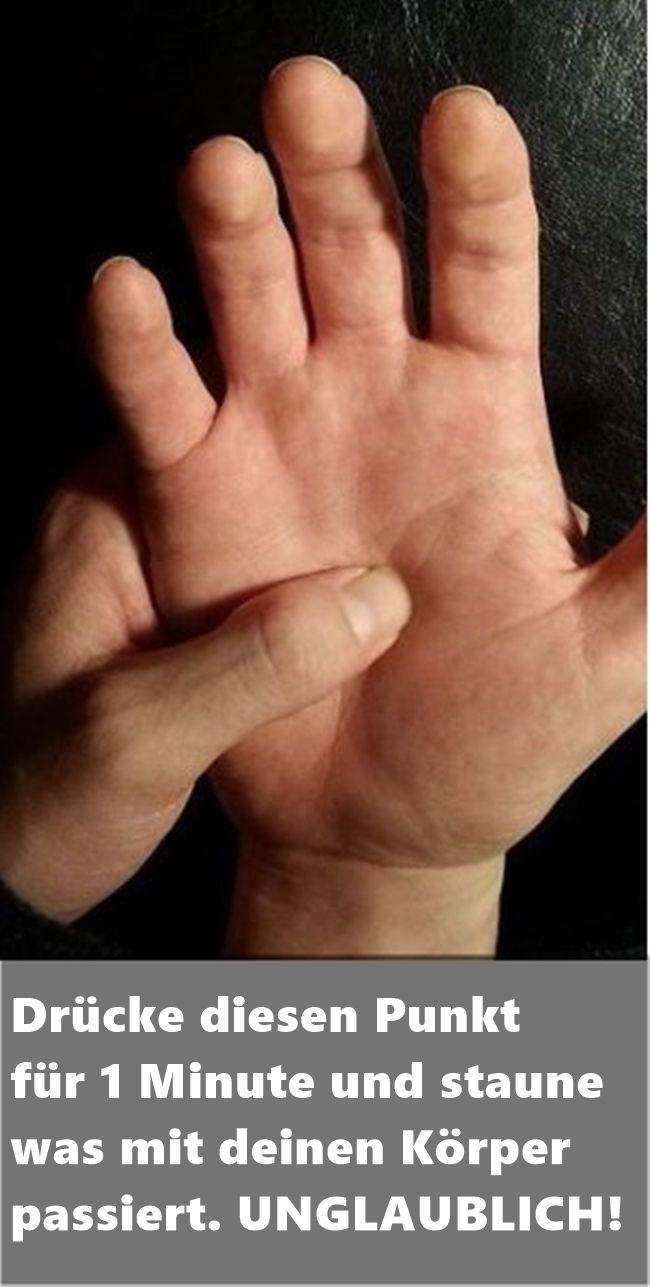 Drücke diesen Punkt für 1 Minute und staune was mit deinen Körper passiert. U…
