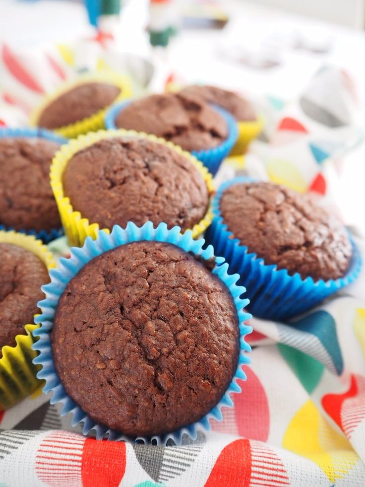 One Bowl Fudgy Chocolate Coconut Muffins