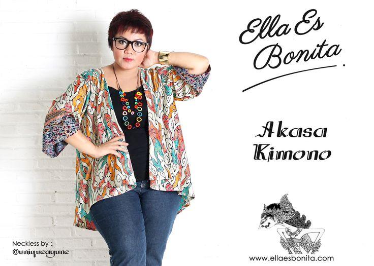Akasa Kimono - This kimono features high quality batik cotton which specially designed for sophisticated curvy women originally made by Indonesian Designer & Local Brand: Ella Es Bonita. Available at www.ellaesbonita.com