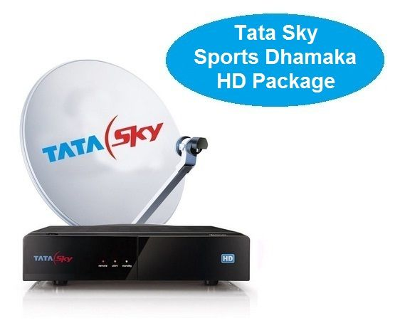 DTH Bazaar offers you to buy Tata Sky Set Top Box with 12 Months Tata Sky Sports Dhamaka HD Package at the best price. Get the complete information about the Tata Sky Sports Dhamaka HD Package Channel List & Price.