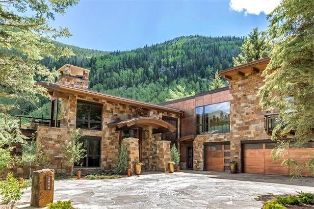 Modern Masterpiece On Gore Creek Vail Colorado Estados Unidos Casa De Lujo En Venta Colorado Homes Stone Houses Vail Colorado
