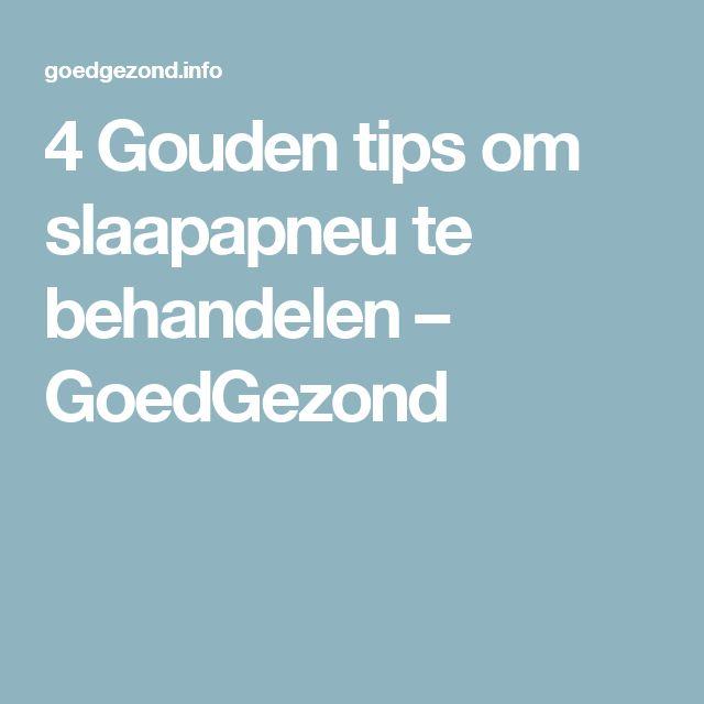 4 Gouden tips om slaapapneu te behandelen – GoedGezond