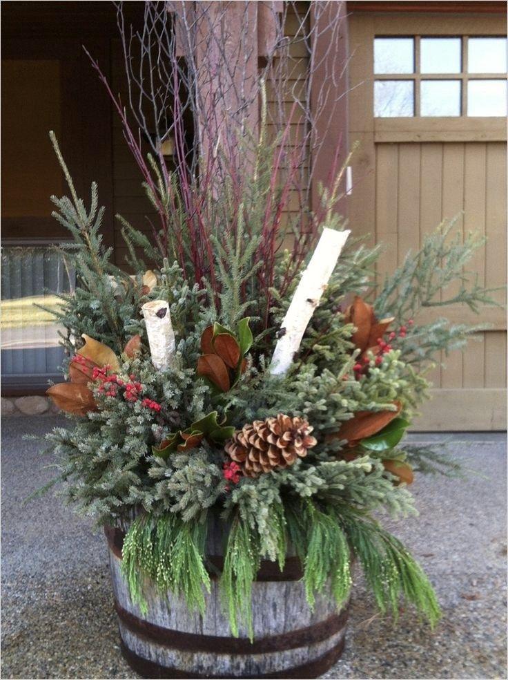 42 Beautiful Christmas Outdoor Pot Decoration Ideas Outdoor Ideas