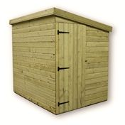10 x 7 Windowless Pressure Treated Tongue and Groove Pent Shed with Side Door