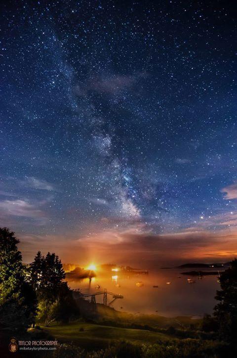 Milky Way at Pemaquid Harbor, Maine Credit : Taylor Photography EXIF data: Nikon D7000, Tokina 11-16mm @ 11mm, f/2.8, 25 secs, ISO 3200, 07/27/13, 11:08 PM